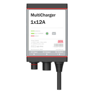 Onboard battery charger MultiCharger 1x12A, front