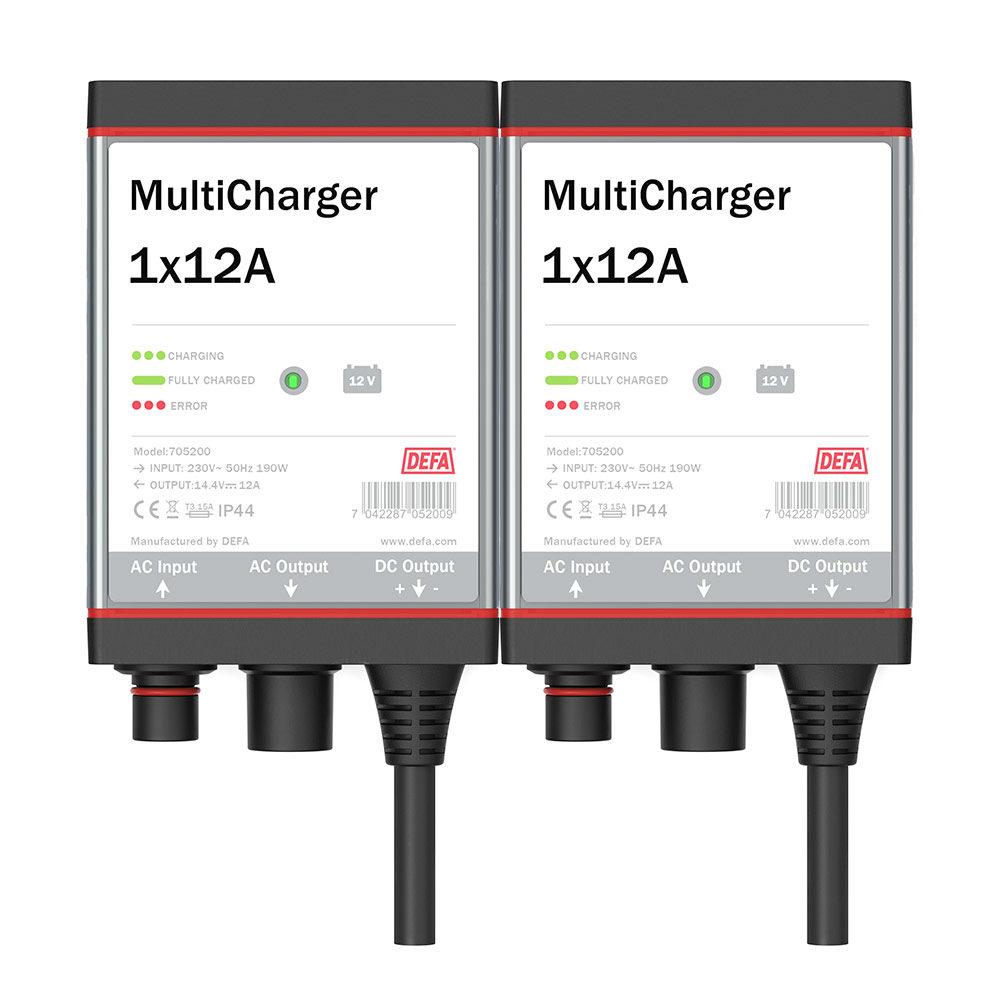 MultiCharger 2x12A batterilader