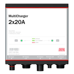MultiCharger 2x20A Batterilader