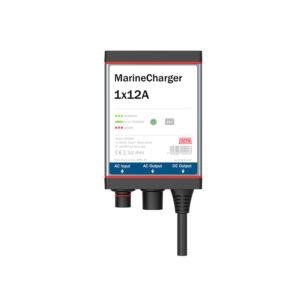 MarineCharger 1x12A batteriladdare, vit bakgrund