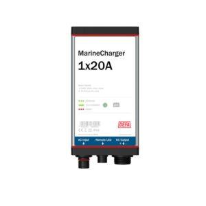 MarineCharger 1x20 batteriladdare, vit bakgrund