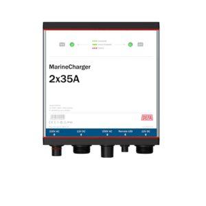 MarineCharger 2x35A batteriladdare, vit bakgrund