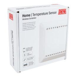 Trådlös temperaturgivare, förpackning, vit bakgrund