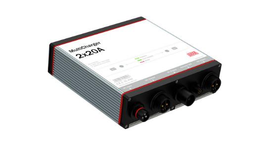 MultiCharger fastmontert batterilader 2x20A