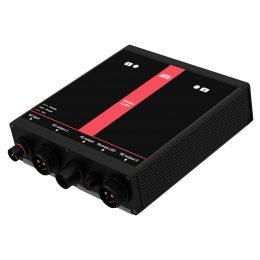 Fastmontert batterilader MultiCharger 2x35A, sett fra siden