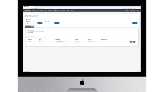 Skærmbillede CloudCharge Admin Portal - Brugeradministration