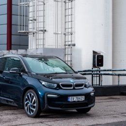 electric car connected to eRange Duo