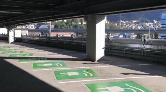 Laddstationer parkeringshus