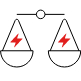 Load balancing icon - scales