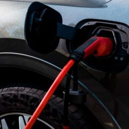 eConnect EV charging cable connected to PHEV