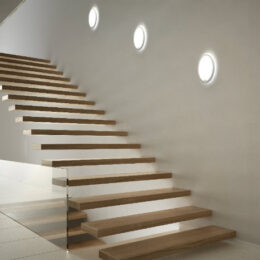 LedgeCircle D460, reference picture, wall mounted in staircase