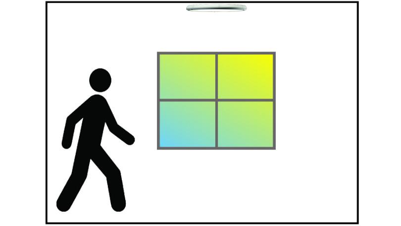 Illustrasjon LedgeCircle RF dagslyssensor dag=av