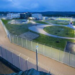 Elite over lufteområde i Mandal fengsel