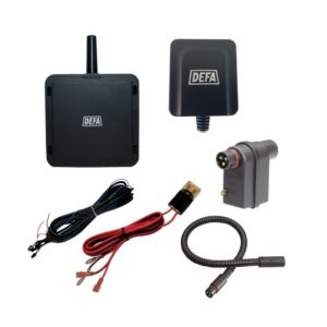 WarmUp GPS Link Upgrade kit, consisting of GPS Link, Link Hub, a relay and connection cables
