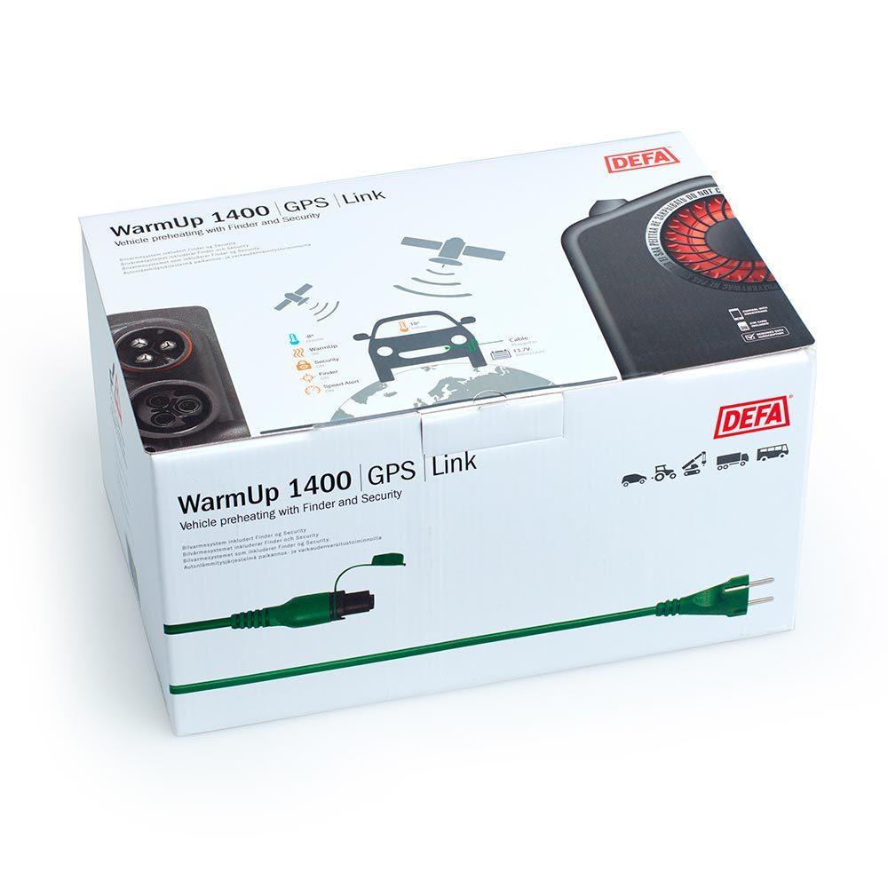 WarmUp 1400 GPS i emballasje