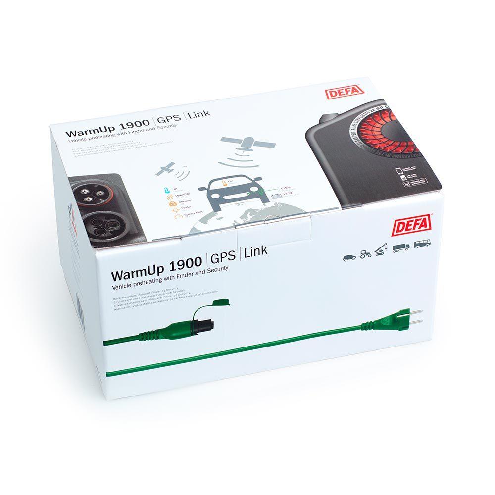 WarmUp 1900 GPS i emballasje